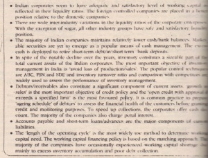 MANAGEMENT OF WORKING CAPITAL IN INDIA