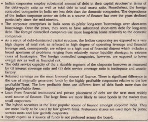 CAPITAL STRUCTURE PRACTICES IN INDIA