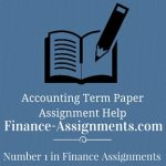 Accounting Term Paper Help