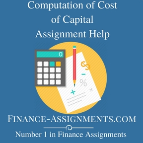 Computation of Cost of Capital Assignment Help