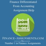 Finance Differentiated From Accounting