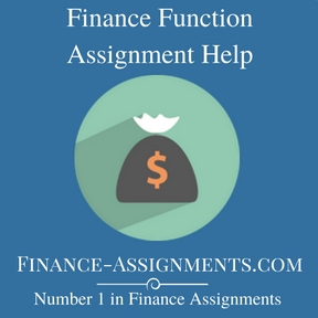Finance Function Assignment Help