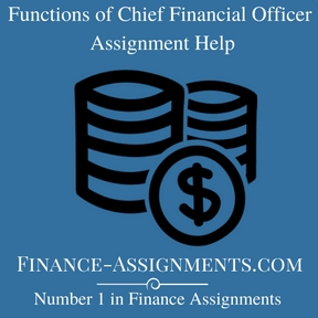 Functions of Chief Financial Officer Assignment Help