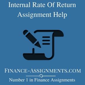 Internal Rate Of Return Assignment Help