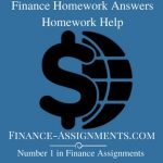 Finance Homework Answers