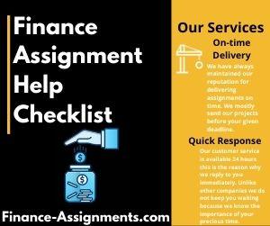 Finance Assignment Help Checklist